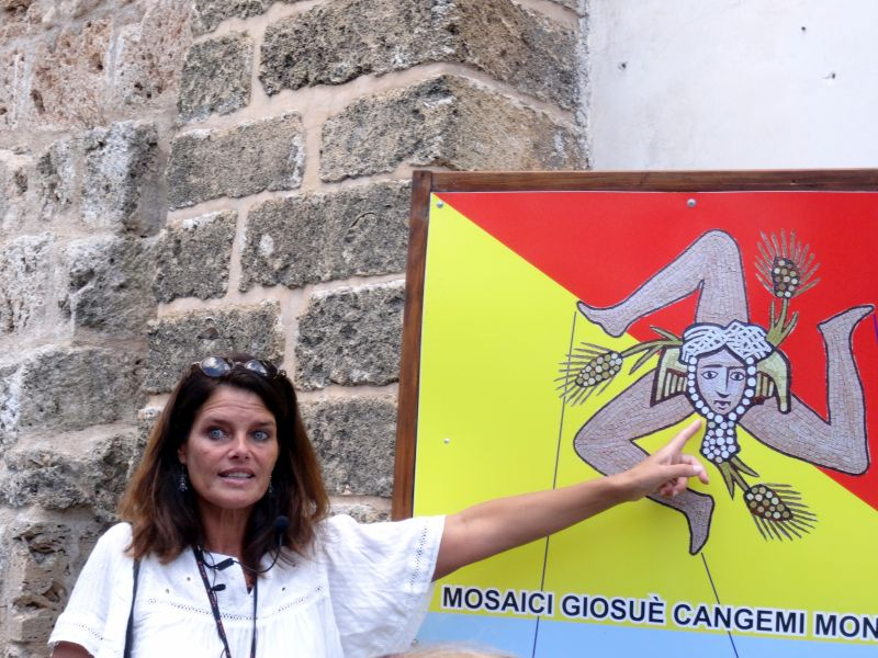 Das Wappen von Sizilien